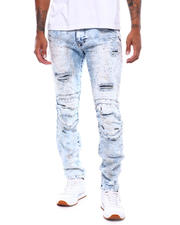 SMOKE RISE - Distressed Slim Jean Carnival Blue-2497903