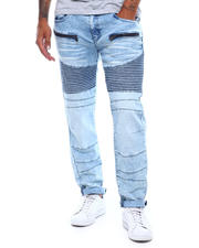 Akademiks - Sky Heather Zip Pocket Moto Jean-2498925