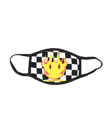 Hard Turn - Smiling Devil Checker Face Mask (Unisex)