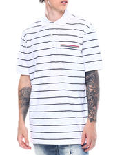 Mens-Holiday - Americana Stripe Polo-2501381