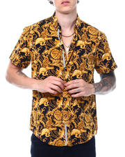 Going-Out-Outfits - ROYAL LION GOLD SS BUTTON DOWN SHIRT-2501101