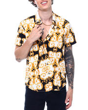Button-downs - GOLD FILIGREE SS BUTTONDOWN SHIRT-2501129