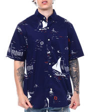 Button-downs - Voyager Oxford Sailboat print Woven Shirt-2501283