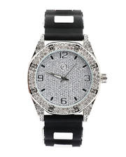 Jewelry & Watches - 40MM Octagonal Dial Watch W/ Simulated Diamonds-2500526