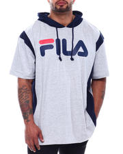 Big & Tall Faves - S/S Hoodie W/Vertical Graphic (B&T)-2500532