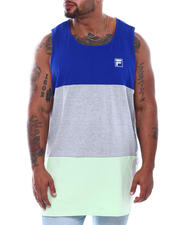 Big & Tall Faves - Sleeveless Tank Top Color Block Vertical Logo (B&T)-2500558