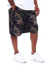 Buyers Picks - Camo Printed Colorblock Scuba Shorts (B&T)-2489371