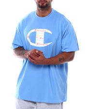 Big & Tall Faves - Big C Logo W/All Over Script Inside S/S Tee (B&T)-2501768
