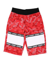 SWITCH - Mesh Camo Print Cut Block Tricot Shorts (8-20)-2502206