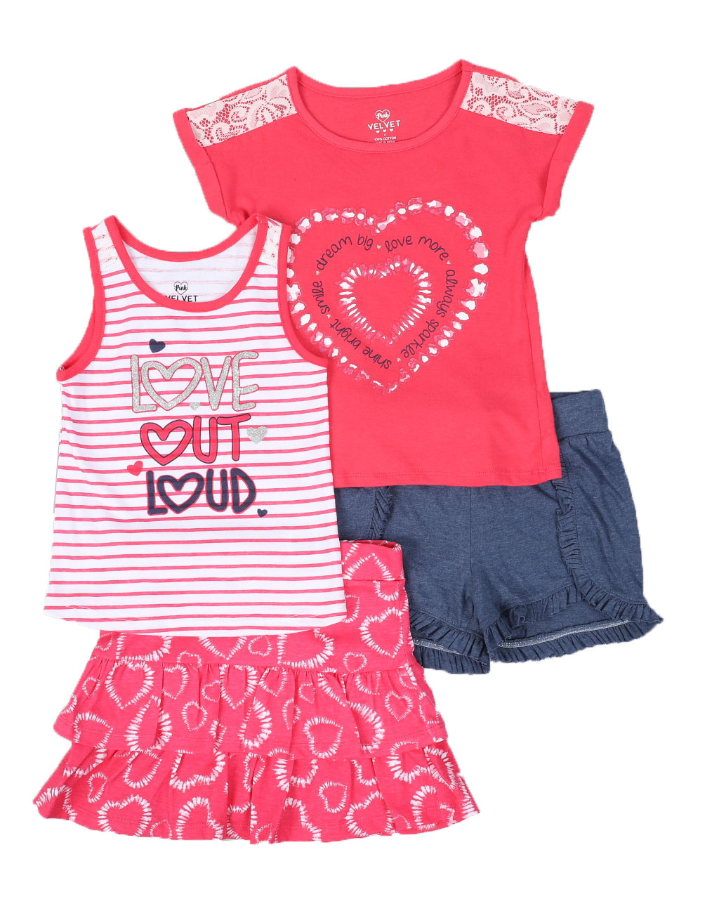 Real Love Girls 4-Piece Mix-and-Match Set
