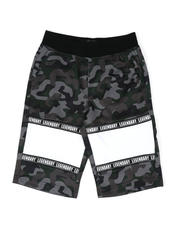 SWITCH - Mesh Camo Print Cut Block Tricot Shorts (8-20)-2502216