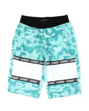 SWITCH - Mesh Camo Print Cut Block Tricot Shorts (8-20)-2502221