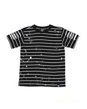 SWITCH - Basic Striped Tee W/ Razor Slash Sleeves (4-7)-2502265