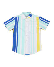 Tops - Striped Woven Shirt W/ Pocket (8-20)-2502315