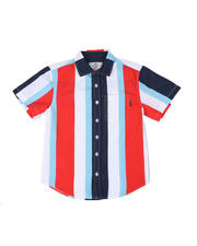 SWITCH - Striped Woven Shirt W/ Pocket (8-20)-2502320