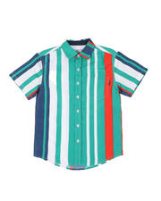 Tops - Striped Woven Shirt W/ Pocket (8-20)-2502325