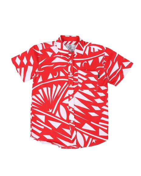 SWITCH - Graphic Print Woven Shirt W/ Pocket (8-20)