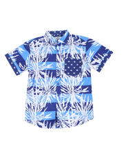 Boys - Graphic Print Woven Shirt W/ Pocket (8-20)-2502350