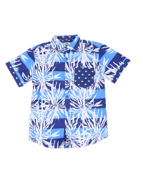 SWITCH - Graphic Print Woven Shirt W/ Pocket (8-20)