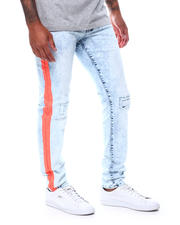 Spring-Summer-M - Neon Orange  Bold Paint Side Stripe Jean-2500573