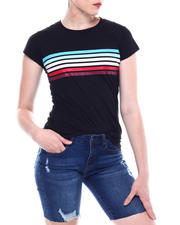 Fashion Lab - Stripe Front Crew Neck T-shirt-2501791