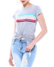 Spring-Summer-W - Stripe Front Crew Neck T-shirt-2501833