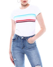 Spring-Summer-W - Stripe Front Crew Neck T-shirt-2501845