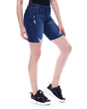 Bottoms - Mid Rise Denim Bermuda-2501917