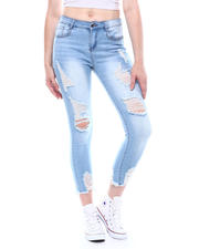 Spring-Summer-W - 5 Pocket Distressed Skinny Jeans-2501941