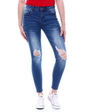 Spring-Summer-W - 5 Pocket Distressed Knee Skinny Jean-2501972
