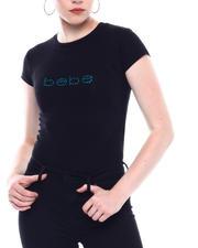 Tops - Rhinestone Bebe Logo S/S T-shirt-2502039