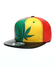 festival - Leaf 3D Embroidery Snapback Hat-2502704