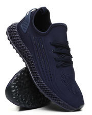 Athleisure for Men - Ridge Knit Lace-Up Sneakers With Back Tab-2502618