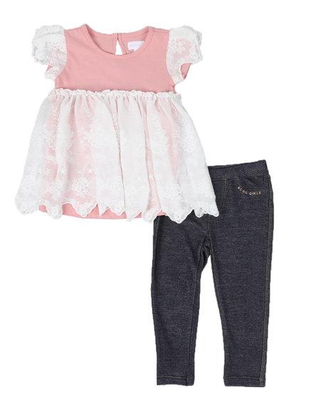 BCBGirls - 2 Pc Lace Tunic & Leggings Set (2T-4T)