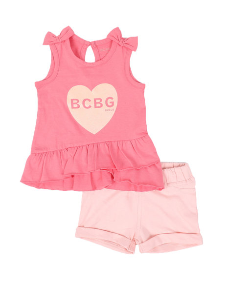 BCBGirls - 2 Pc Logo Ruffle Trim Tank Top & Shorts Set (Infant)