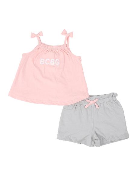 BCBGirls - 2 Pc Logo Tie Sleeve Tank Top & Shorts Set (4-6X)