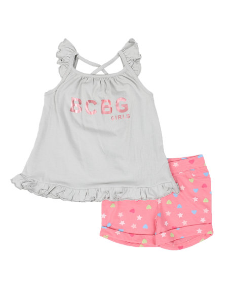 BCBGirls - 2 Pc Logo Tank Top & Printed Shorts Set (4-6X)