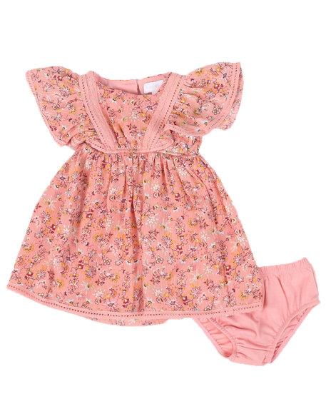 BCBGirls - 2 Pc Floral Print Dress & Bottom Set (Infant)