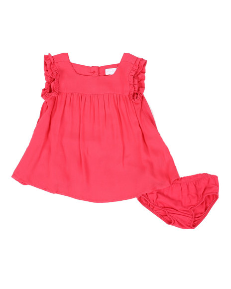 BCBGirls - 2 Pc Ruffle Sleeve Dress & Bottom Set (3-24Mo)