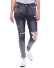 Jeans - 5 Pocket Distressed Skinny Jeans-2501875