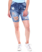 Fashion Lab - Destructed Full Rips Denim Bermuda-2504354