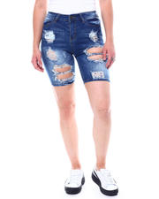 Fashion Lab - Destructed Full Rips  Denim bermuda-2504367