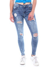 Jeans - 5 Pocket Distressed Skinny Jeans-2504414