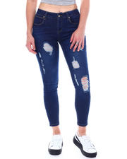 Jeans - 5 Pocket Distressed Skinny Jeans-2504436