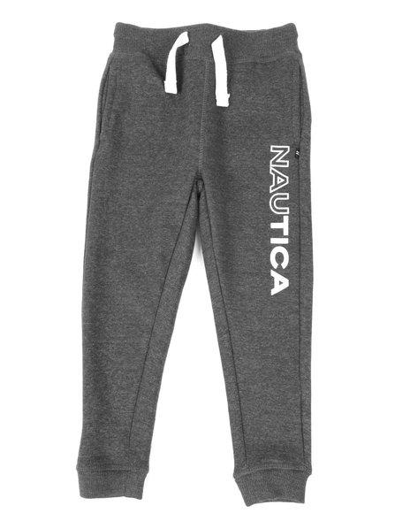 Nautica - Half Full Logo Knit Jogger Pants (4-7)