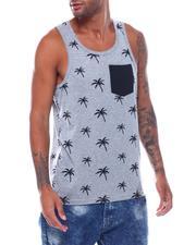 Men - Palm Tree Pocket Tank Top-2503703