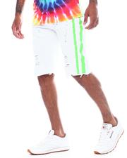 WT02 - White Neon Splatter Stripe Short-2503881