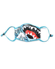Accessories - Wave Shark Teeth Camo Face Mask (Unisex)-2505454