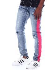 Buyers Picks - Neon Pink Striped Distressed Jean-2505830