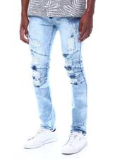 Spring-Summer - Blue Wash Distressed Articulated Jean-2505585